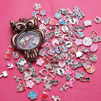 Cheap .Pendant Floating owl floating charm locket Living Memory Floating Locket Pendant floating charms locket alloy Necklaces Charms