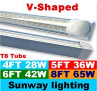 tube light - V Shaped ft ft ft ft Cooler Door Led Tubes T8 Integrated Led Tubes Double Sides SMD2835 Led Fluorescent Lights AC V UL DLC