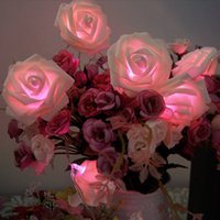 Wholesale Battery Operated Led Rose Flower Fairy String Lights for Room Home Garden Wedding Christmas Party Decoration
