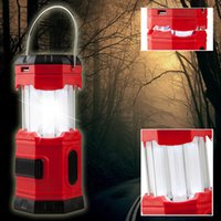 Wholesale 185Lumens Waterproof Portable Outdoor Camping Lantern solar Lamp Rechargeable Emergency Tent Light with USB Hook
