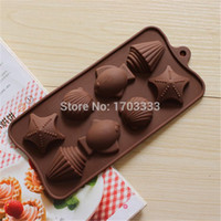 Wholesale silicone bakeware mold shell fish styling cake baking molds Handmade Chocolate Ice Cube DIY Mold soap moulds