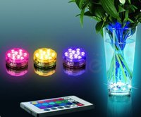Wholesale Makibes Multi Color Submersible LED Light Party Vase Lamp Underwater waterproof With Remote Controller Hookah LED waterproof lights ak030