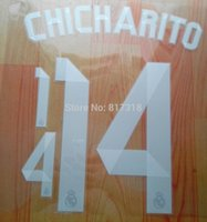 Wholesale Madrid AWAY CHICHARITO nameset name numbering00