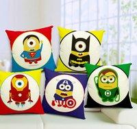 american car covers - Minions Superheroes the Avenger Batman American Captain Ironman movie cartoon character cushions car sofa home decor pillow covers