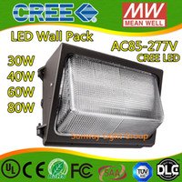 Wholesale IP65 High quality UL CUL DLC w W w w led wall pack with years warranty led wall pack Wall Mounted light