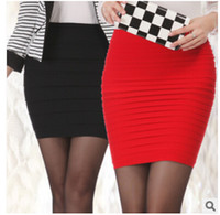 Wholesale Skirts For Clubbing - Womens Mini skirt new high waist short Skirt work formal A line Stretch club wear skrits pencil Casual Skirts for woman