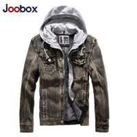 autumn cashmere jeans - Fall Autumn and winter men s thick cashmere warm casual jeans coat mens fashion windbreaker denim jacket black blue chaqueta hombre