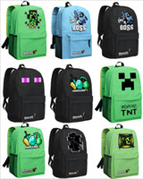 Wholesale NEW HOT High Quality Minecraft Shoulder Bag Backpack Schoolbag For Women And Men GAME Best Birthday Gift Mochila Feminina