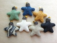 amethyst rock crystal - 7PCS starfish Charms Natural Lava Rock Stone pendant With Rhinestone Crystal Charms Pendants Finding For DIY Necklace Jewelry Making SA
