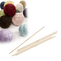 Wholesale Bamboo Knitting Needles Natural Double Pointed UK11 mm cm long set new