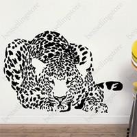 Wholesale Wall stickers Home decor SIze mm mm PVC Vinyl paster Removable Art Mural leopard B