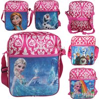 Wholesale 2015 Fashion Newest Mochila Frozen Kids Children Travel Backpack Shoulder Bags School Bags for teenagers Christmas Best Gifts