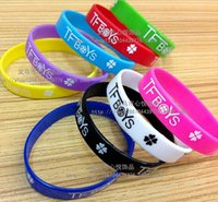 hip support - 9 styles Hot sale TFBOYS wristbands TFBOYS Silicone Wristbands silicone bracelet Classic Hip hop Support wristband LJJD549