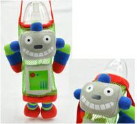 50pcs / lot New Child Safety Enfant Bébé Cartoon Animals Nourrir Paille pour boire Bouteille Sippy Cup Kid Drink RSS Porte-Bouteille