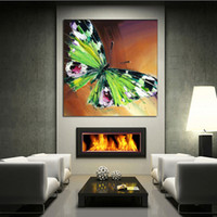 beautiful calligraphy - 100 Handpainted Oil Painting Canvas Butterfly Wall Art Modern Abstract Beautiful Animal Art Picture on Canvas Home Decor