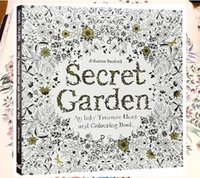 Wholesale lastest Hot Secret Garden An Inky Treasure Hunt and Coloring Book Adult Children Relax Graffiti Relieve Stress Painting Book