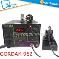 Cheap Wholesale-Free Shipping 2015 Newest 220V Gordak 952 SMD Rework Station Desoldering Station Hot Air Gun