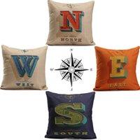 alphabet cushions - 43x43cm English Alphabet Cushion Print Cover Cotton Linen Pillowcase Home Office Decorative Throw Pillow Case