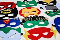 Wholesale Mix Colors Superhero Kids Cartoon Eye Masks Halloween Masks Cosplay Masquerade Mask Party Eye Mask Spiderman Mask Eye Shade