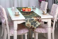Wholesale European fashion table runner printed velvet fabric tablecloths home table cloth