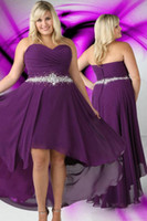Cheap High Low Bridesmaids Dresses Cheap Best Chiffon Purple Bridesmaid Dress