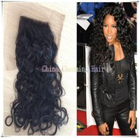 Cheap wavy lace closure Best wet and wavy closure
