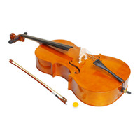 Wholesale Natural Color Wood Cello Size Cello with Bow Rosin Soft Bag Professional Cello