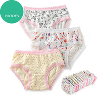 Wholesale Children Cute Underwear - Toddler Girls Underwear Fashion Kids Cute Lace and Printing Underwear Hot Children Breathable and Comfortable Underwear