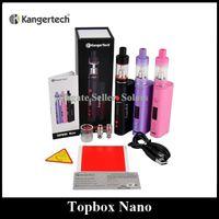 starter beginner - Authentic Kanger Topbox Nano TC Kit W Temperature Control Starter Kit with Top Refilling Totank Nano Black Pink Purple Beginner Kit