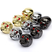 Wholesale 3pcs Cool Skull Head Tone Volume Control Knobs Buttons For Electric Guitar Parts Musical Instruments With Wrench small order no tracking