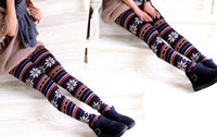 Wholesale 2014 cheapest Factory price Lady Leggings Imitation cashmere Snowflakes fawn tights women Ninth pants designs cm for Christmas