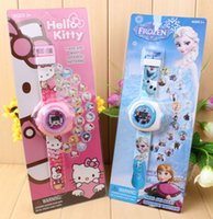 cheap children watches - Cheap New Child Cartoon watch Frozen Watch D projection Girls Boys Toys can show different patterns for children Christmas gifts