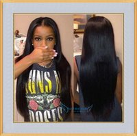 Wholesale 6A Grade Brazilian Virgin Straight Human Hair Full Lace Wigs Lace Front Wigs With Baby Hair Natural Hairline