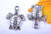 Wholesale 300pieces mm tortoise Pendant Charms Plated Silver DIY Jewelry Finding Making Charms Necklace infinity Bracelets Earring Accessory