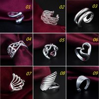 Wholesale New Sterling Silver Jewerly Rings Opening Adjustable Rings For Women