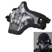 Wholesale 2015 Sale Direct Selling Paintball Bb Gun Paintball Strike Metal Mesh Protective Mask Half Face Tactical Airsoft Military