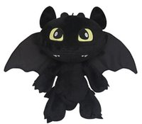 Wholesale how to train your dragon cm soft plush animal dolls for baby how to train your dragon toothless dragon black in stock