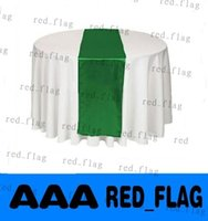 Wholesale Emerald Dark Green Satin Table Runner Wedding Cloth Runners Holiday Favor Party Banquet Decoration LLY1211