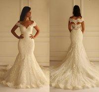galia lahav - Elegant Wedding Dresses Mermaid Maison Yeya V Neck wedding gowns Sexy Appliques High Quality galia lahav Bride Gown Cap Sleeves SX226
