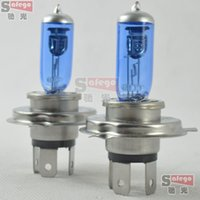 100pcs / lot nouvelle halogène h4 type P43T nouveaux phares de voiture au xénon super-blanc bulbes kit lampe halogène 12V 60 / 55W