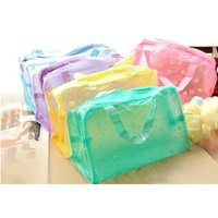Wholesale 2 Styles Fashion Transparent Cosmetic Bags Cases Handbag Waterproof Admission Package Storage Bag Makeup Tools Brushes Bath