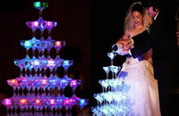 Wholesale 50pc LED Ice Cubes Flash Light wedding Party light ice crystal Cube color flash Christmas gifts