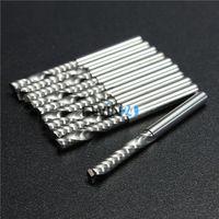 Wholesale 10PCS SET mm mm Single Flute Spiral Carbide CNC Router Bits Milling Cutter Tools New