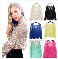 Cheap crochet shirt Best sleeve embroidery