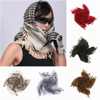 Wholesale New Arrival ARAB Windproof Thicken Square Scarf Women Men Cotton Shemagh Desert Tactical Hijabs Scarves Colors Choose ENN