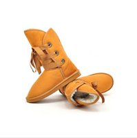 Wholesale 2014 Hot Sale Winter Snow Boot Women Man made Fur Buckle Motorcycle Ankle Boots Shoes size36