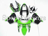 achat en gros de plastiques zx9r-Carénages complets Fit Kawasaki Ninja ZX9R ZX-9R Année 98 99 1998 - 1999 Sportbike ABS Plastics Moto Carénage carrosserie Cowing Green Black