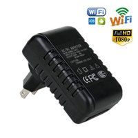 Wholesale FREE DHL HD P Motion Detection H Video Recorder MINI WIFI US Charger SPY Hidden Camera For Cell Phone Tablets PC