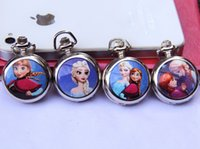 Wholesale Newest Hot Sale Products Frozen Cartoon Elsa Anna Olaf Pattern Watches Best Seller Metal Pocket Watch Snow Queen Design J1472