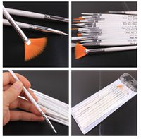 Wholesale 15pcs set Nail Art Brush Set Painting Dotting Design White Pen DHL Free
